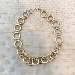 J Crew | Gold Chainlink Statement Necklace
